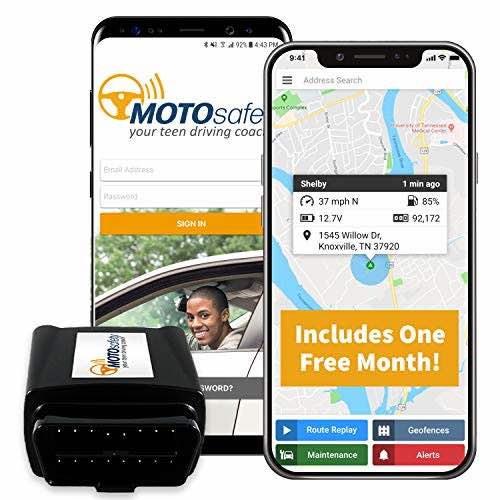 MOTOsafety Monitoring System OBD Teen Driving Coach Vehicle