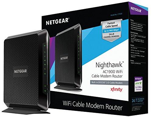 NETGEAR Nighthawk C7000 DOCSIS 3.0 WiFi Cable Xfinity Modem Compatibility