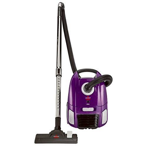 Corded Zing Bagged (4122) maroon Canister Vacuum Cleaner By Bissell