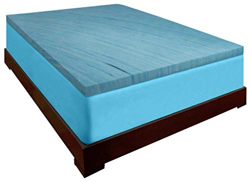 DreamDNA Twin XL 3 Inch Thick, 2.5 Pound Density Visco Elastic Memory Foam Mattress Bed Topper