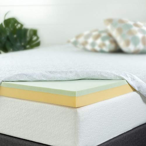 Zinus 4 Inch Green Tea Memory Foam Mattress Topper, King