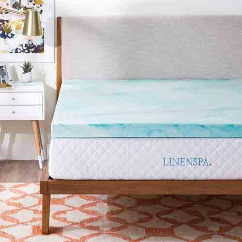Linenspa 3 Inch Gel Swirl Memory Foam Topper